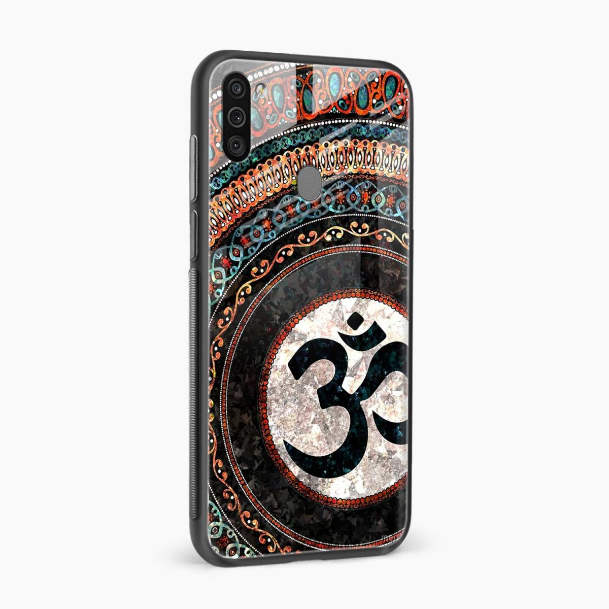 om glass side view samsung galaxy m11 back cover