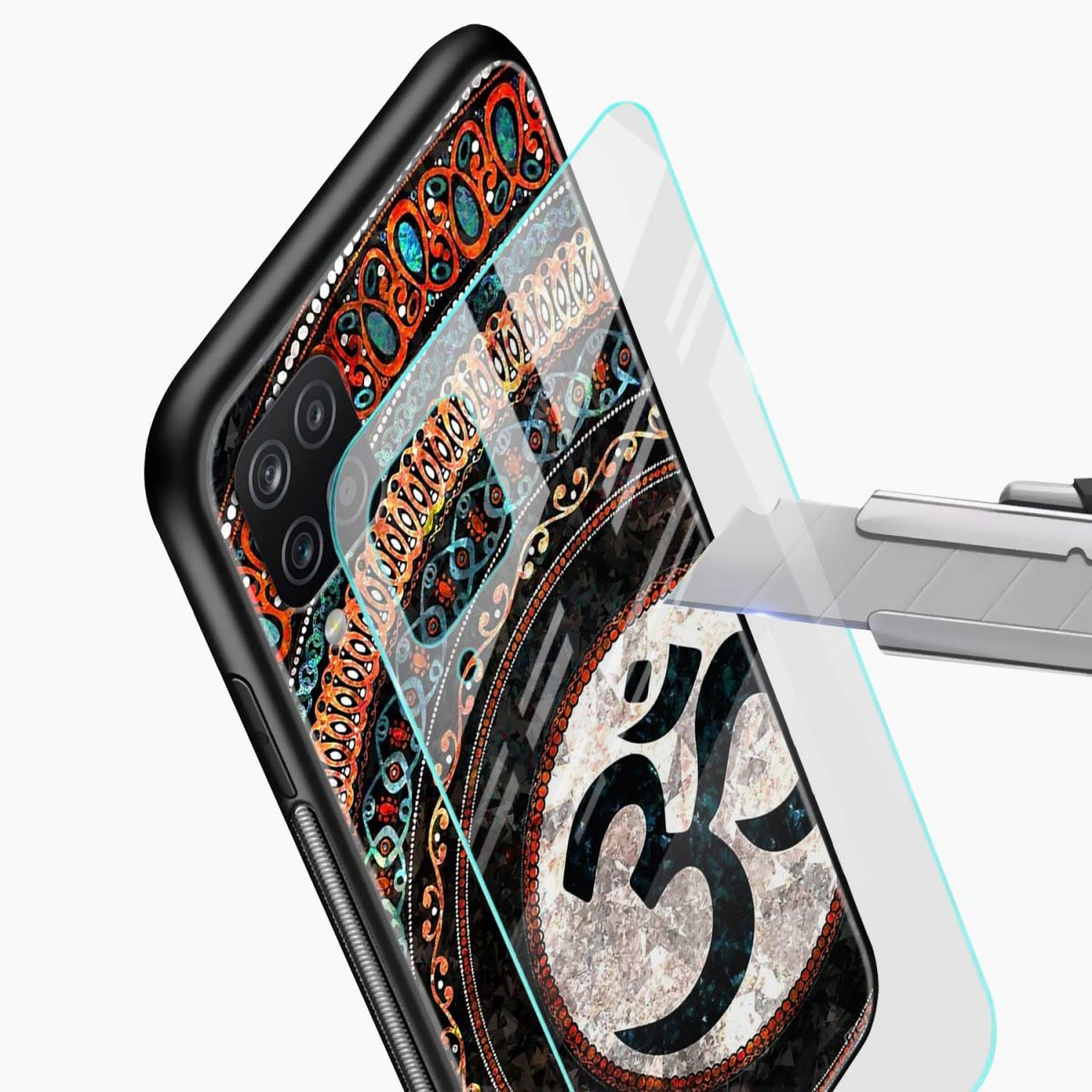 om glass glass view samsung galaxy a12 back cover