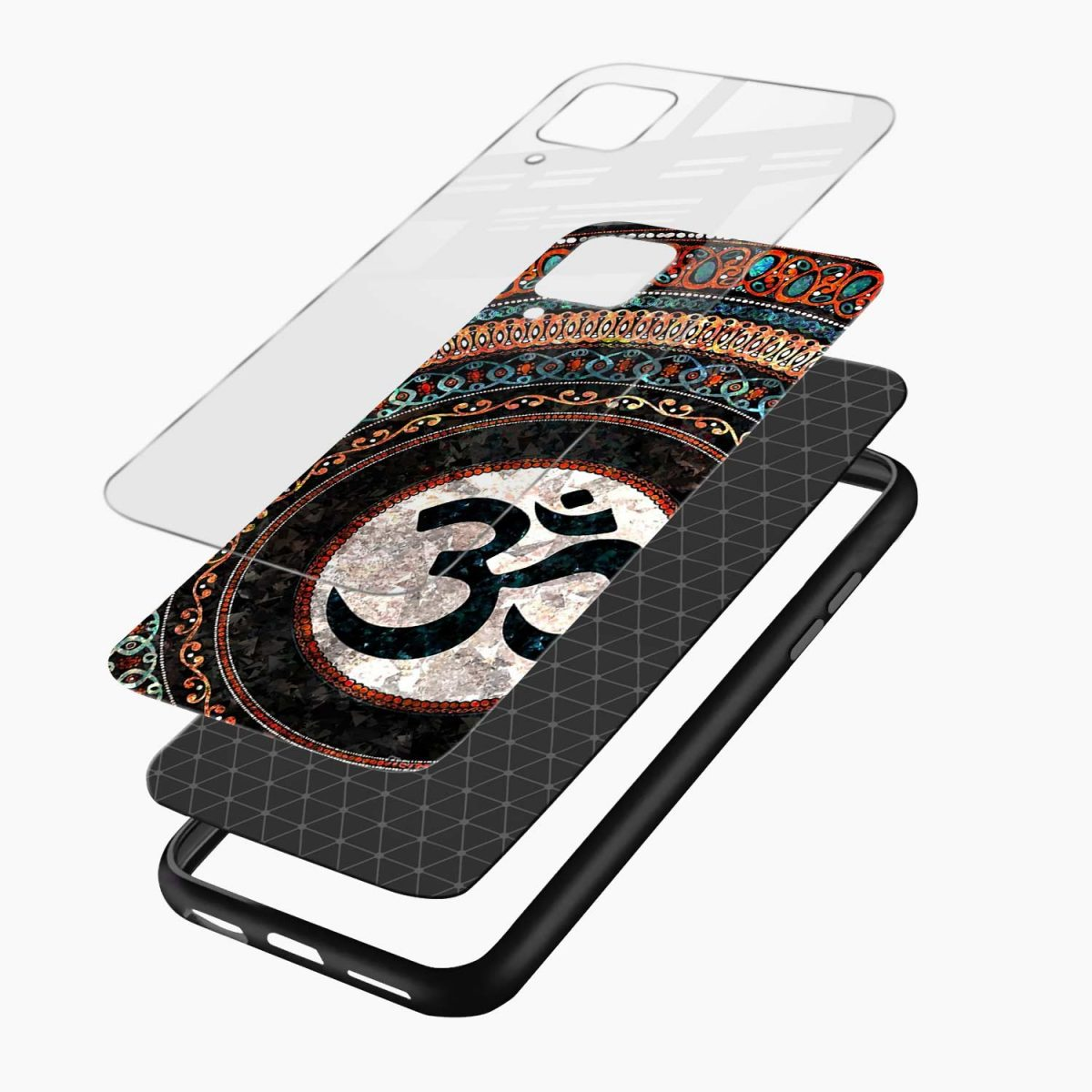 om glass layers view samsung galaxy a12 back cover
