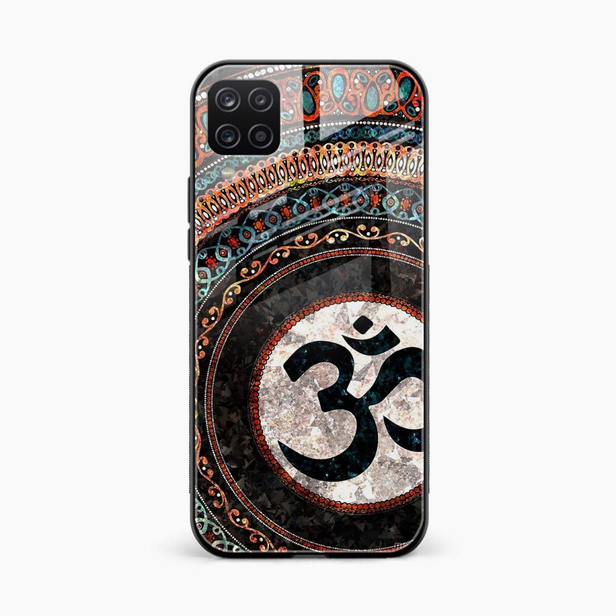om glass front view samsung galaxy a12 back cover