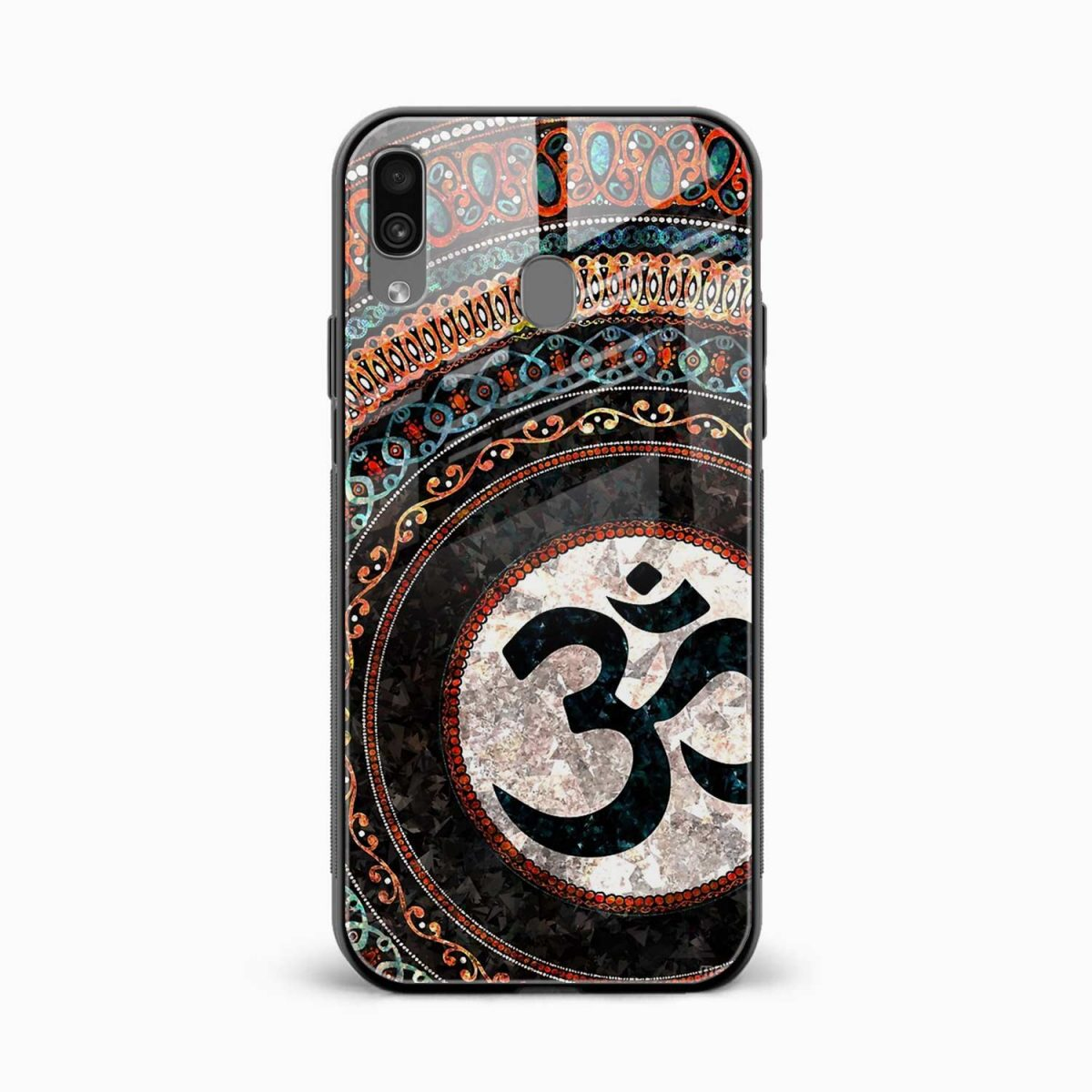 om glass front view samsung galaxy a30 back cover