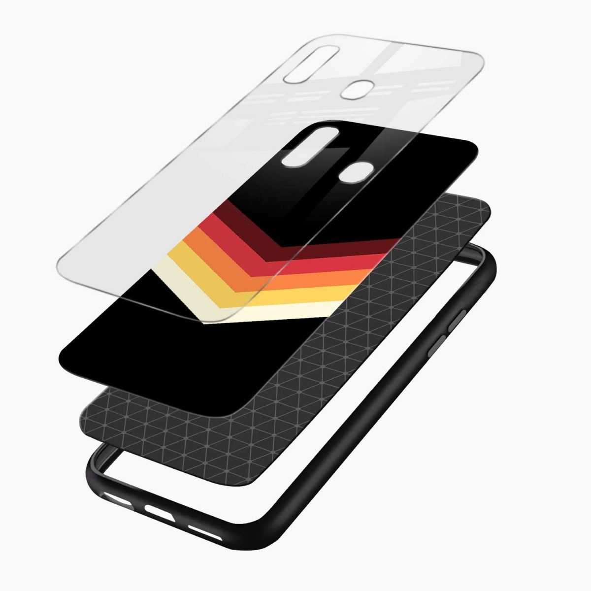 rewind strips pattern layers view samsung galaxy a30 back cover