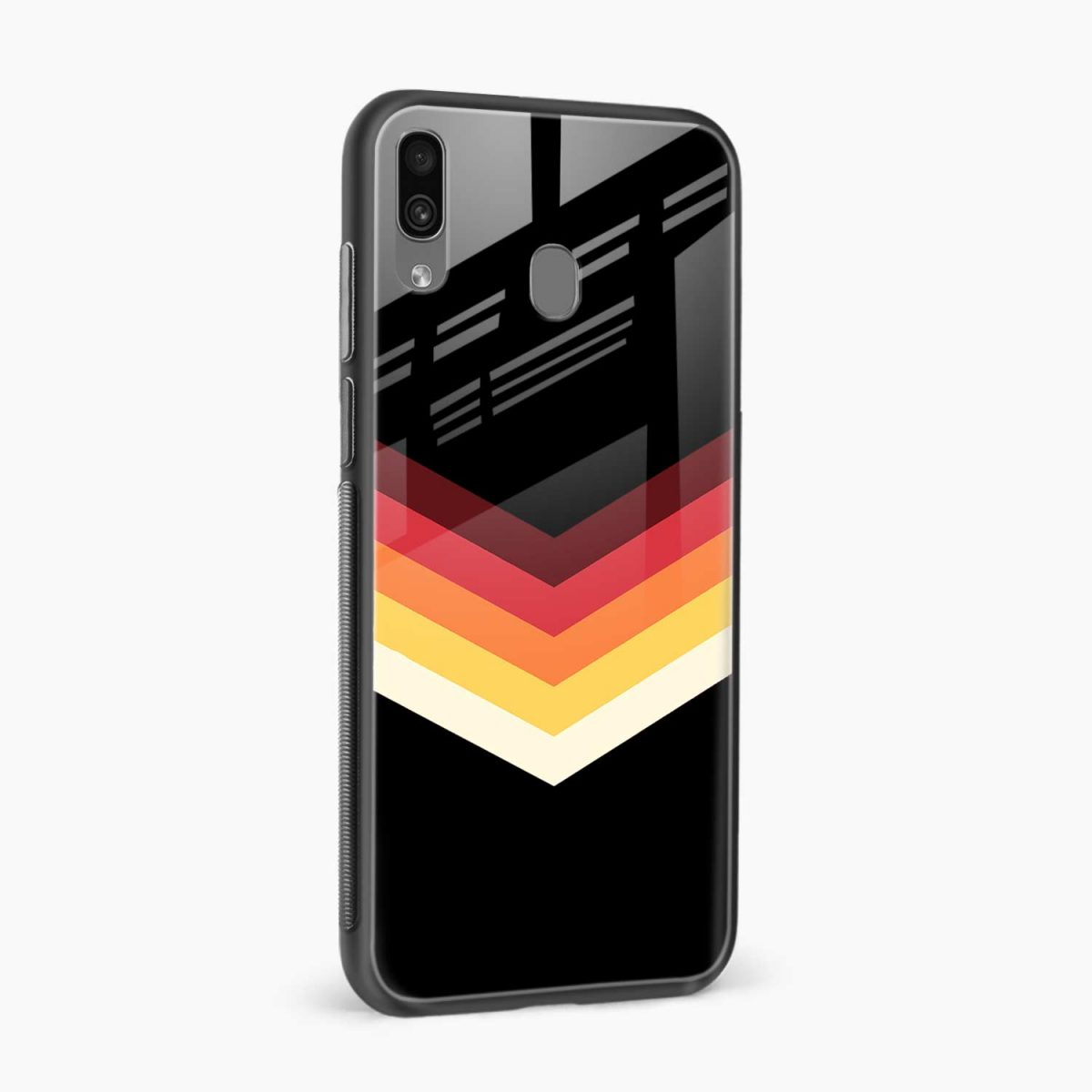 rewind strips pattern side view samsung galaxy a30 back cover