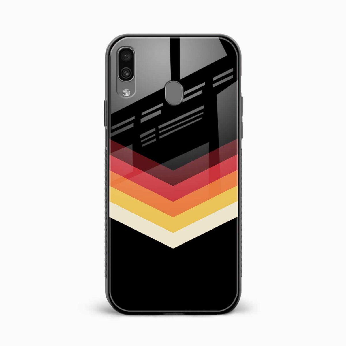 rewind strips pattern front view samsung galaxy a30 back cover