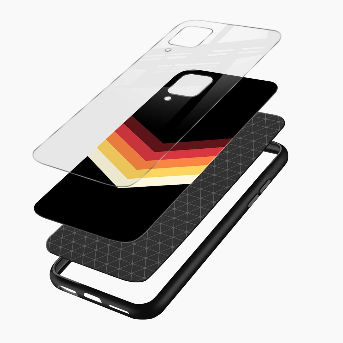 rewind strips pattern layers view samsung galaxy a12 back cover