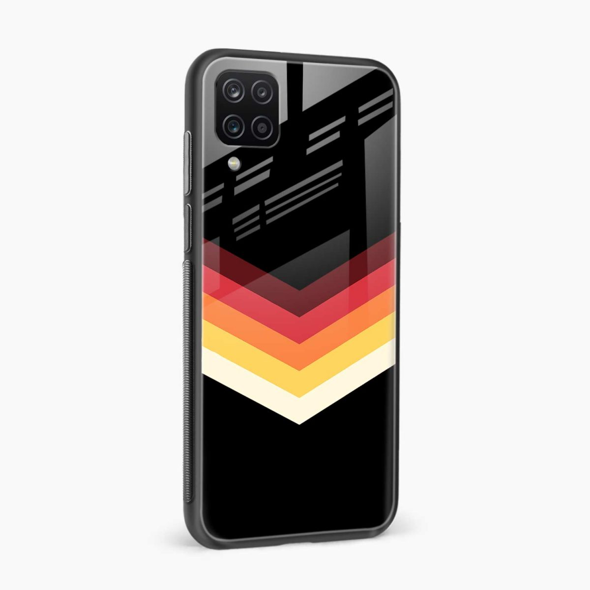 rewind strips pattern side view samsung galaxy a12 back cover