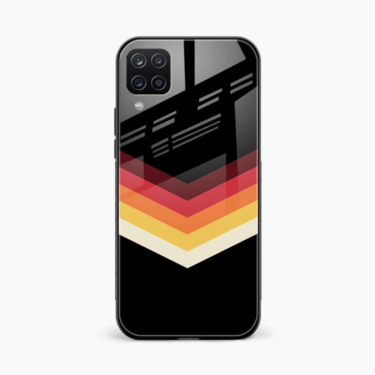rewind strips pattern front view samsung galaxy a12 back cover