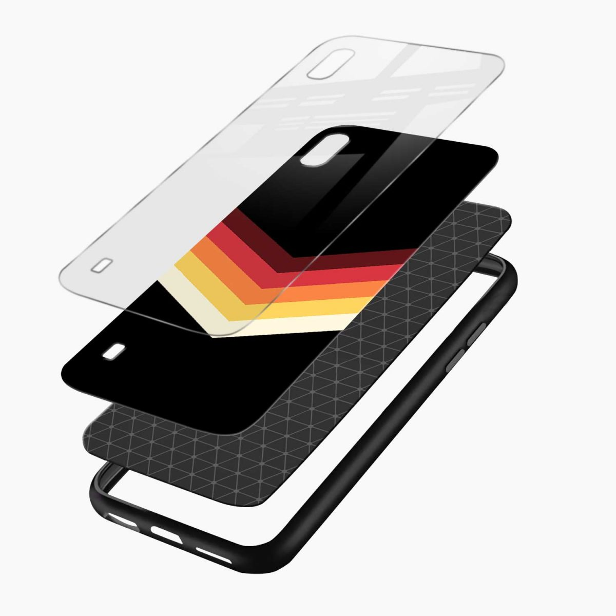 rewind strips pattern layers view samsung galaxy a10 back cover