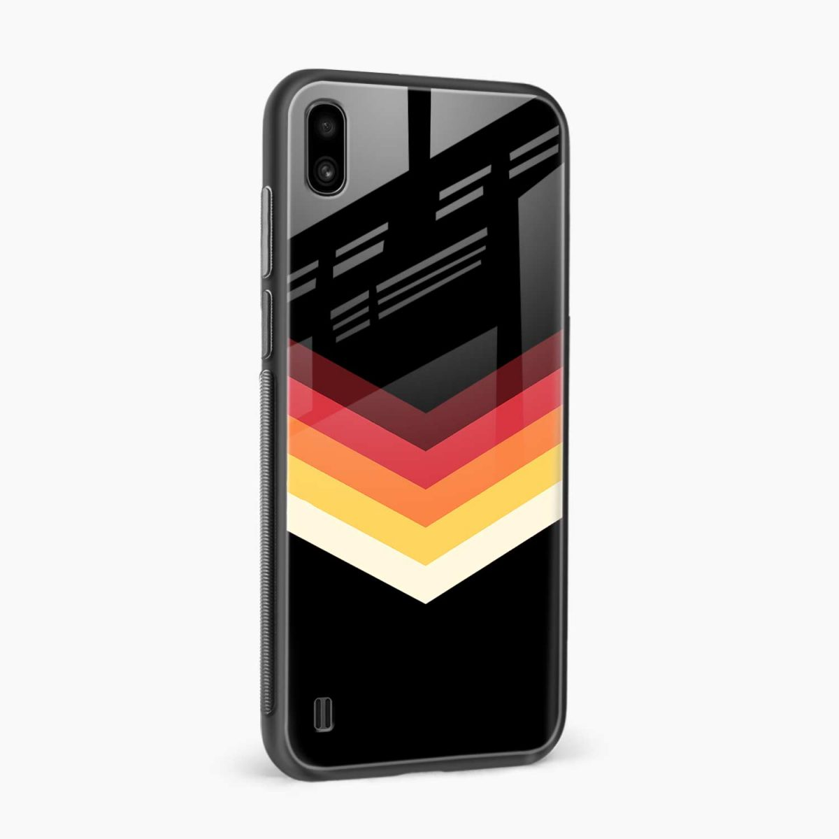 rewind strips pattern side view samsung galaxy a10 back cover