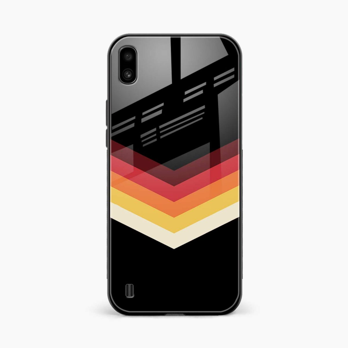rewind strips pattern front view samsung galaxy a10 back cover