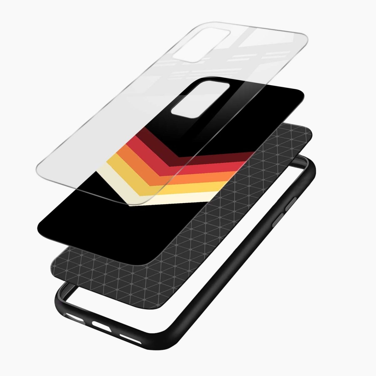rewind strips pattern layers view vivo v20 back cover