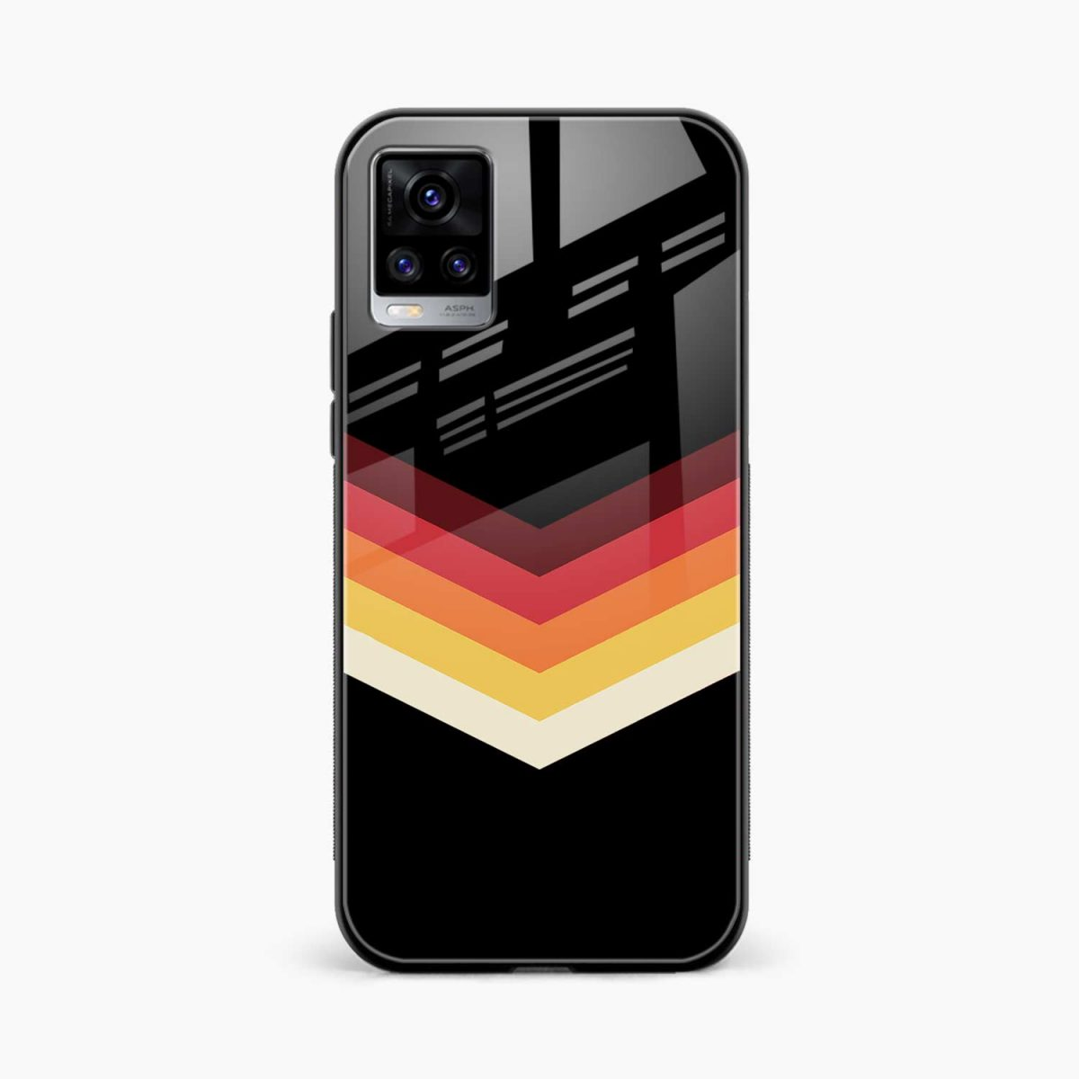 rewind strips pattern front view vivo v20 back cover