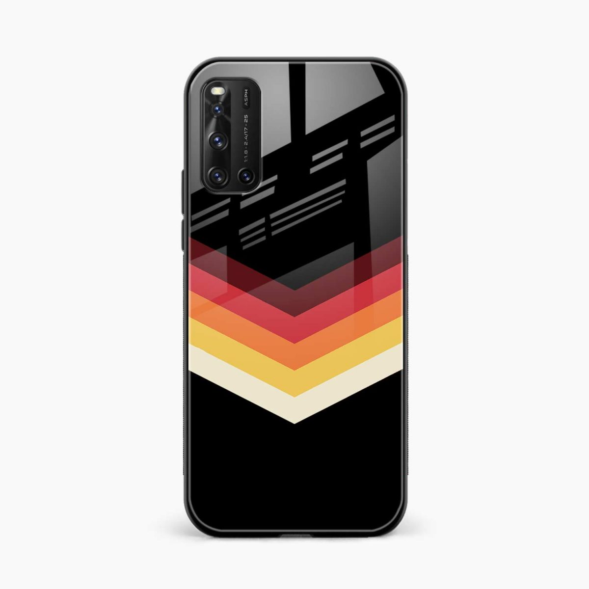 rewind strips pattern front view vivo v19 back cover