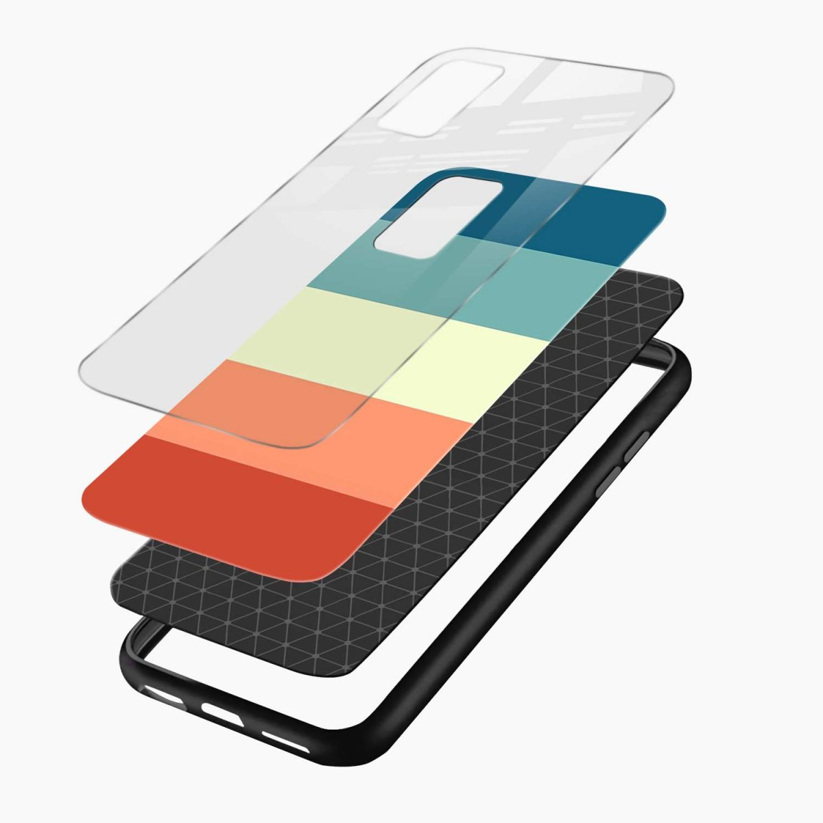 vintage retro graphic pattern layers view vivo v20 back cover