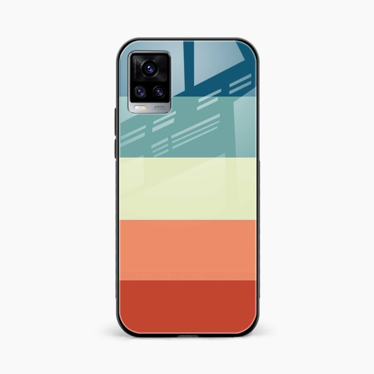 vintage retro graphic pattern front view vivo v20 back cover