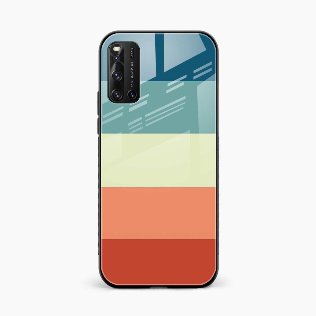 vintage retro graphic pattern front view vivo v19 back cover