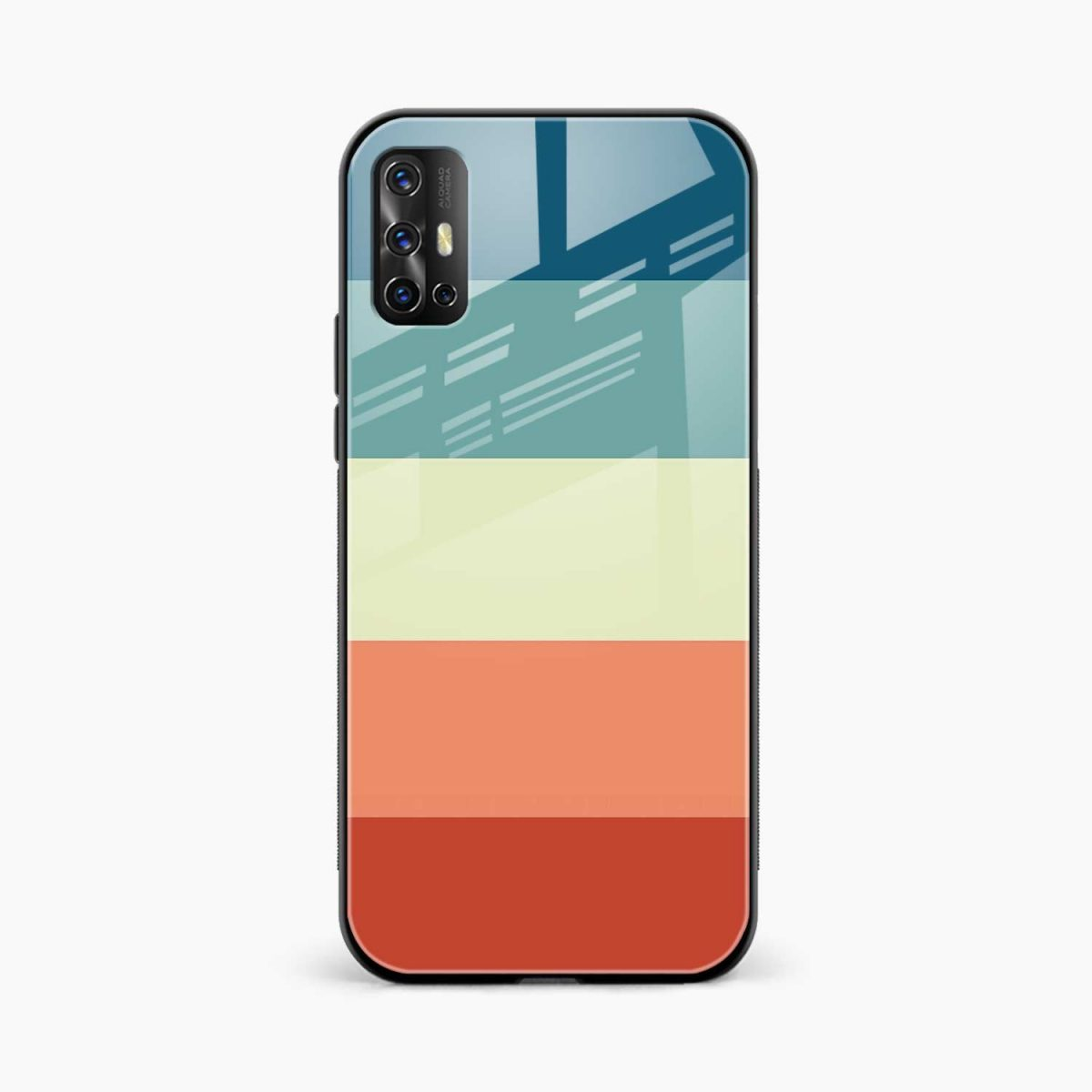 vintage retro graphic pattern front view vivo v17 back cover