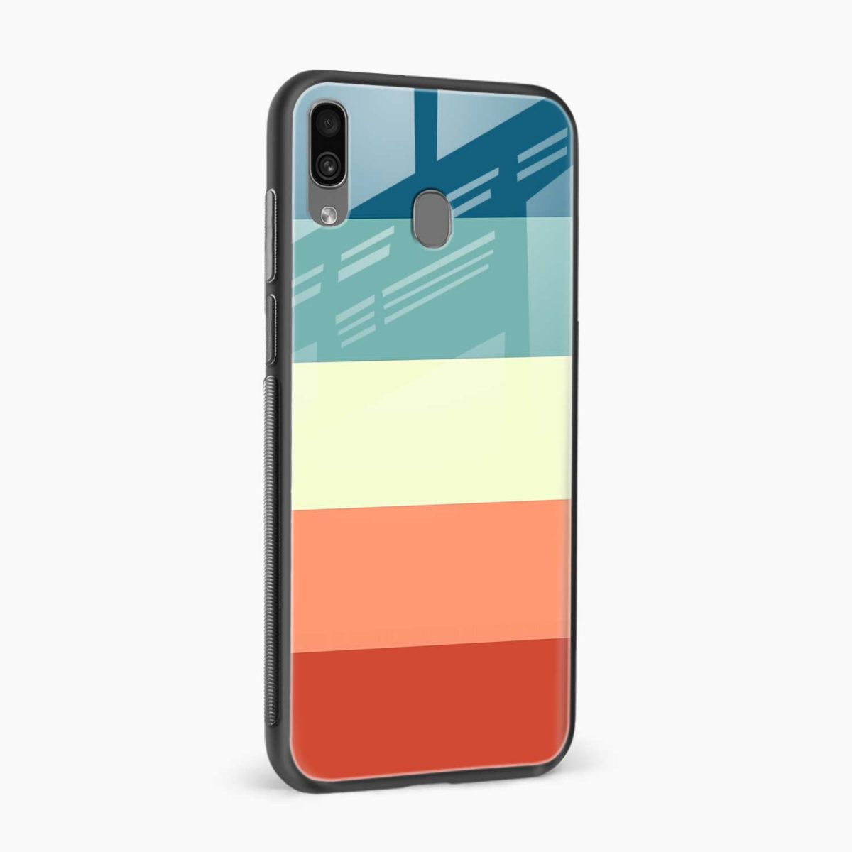 vintage retro graphic pattern side view samsung galaxy a30 back cover