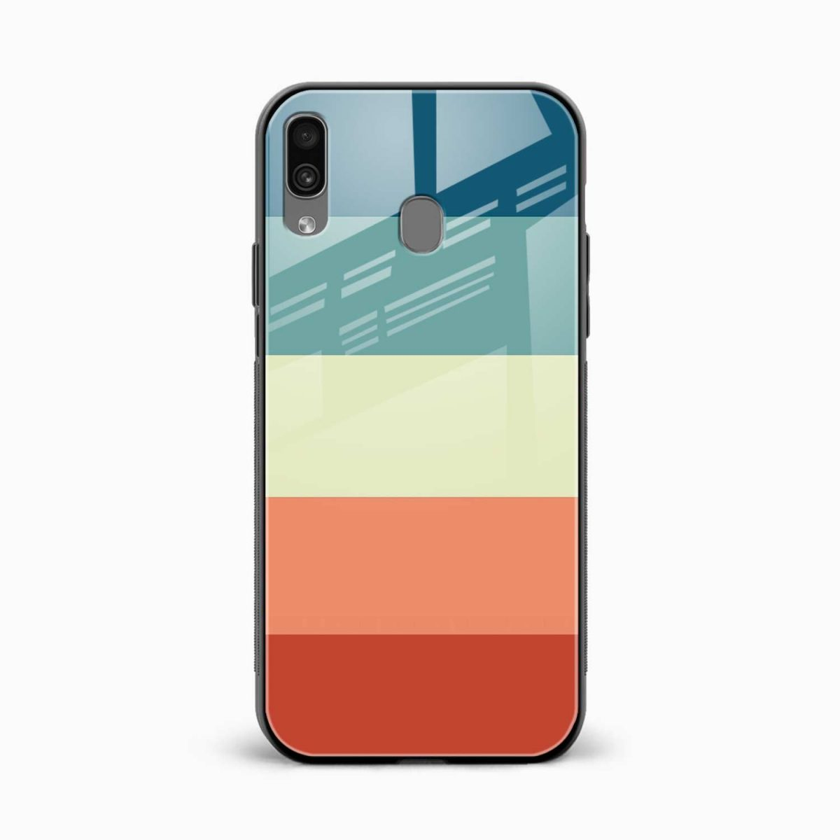 vintage retro graphic pattern front view samsung galaxy a30 back cover