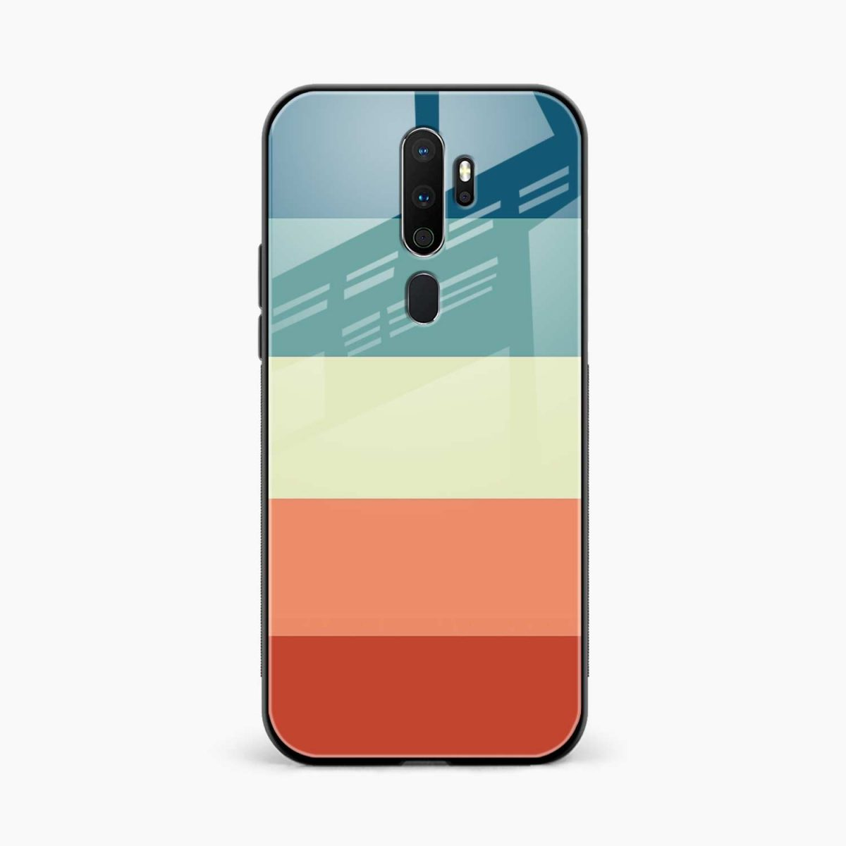 vintage retro graphic pattern front view oppo a5 back cover
