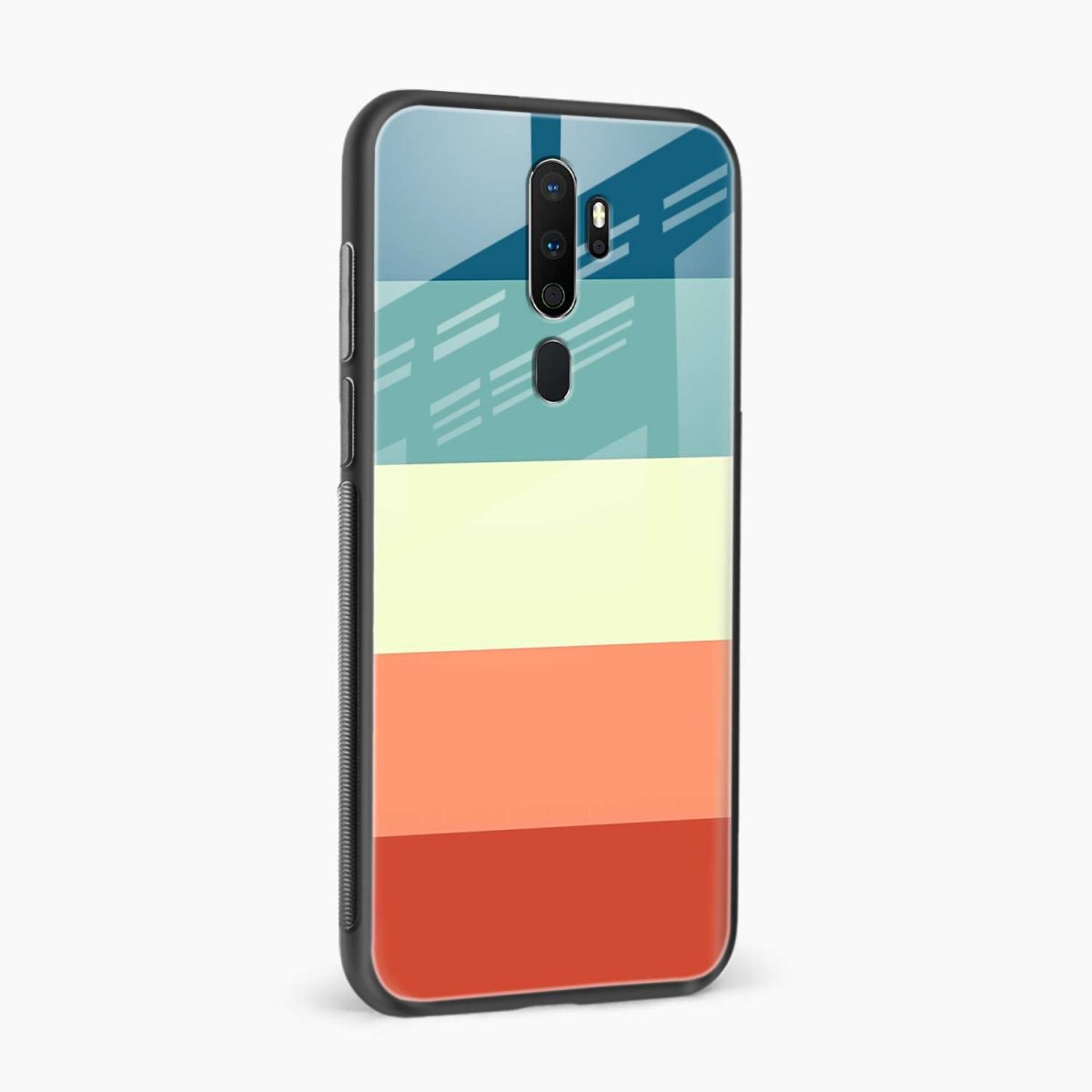 vintage retro graphic pattern side view oppo a5 back cover