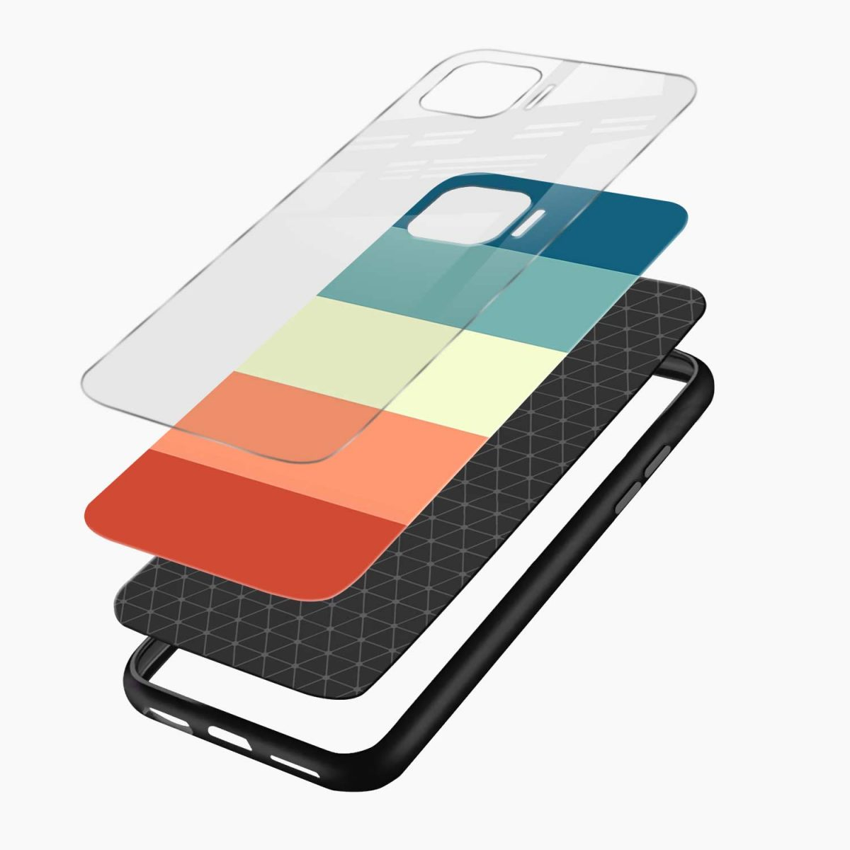 vintage retro graphic pattern layers view oppo f17 pro back cove