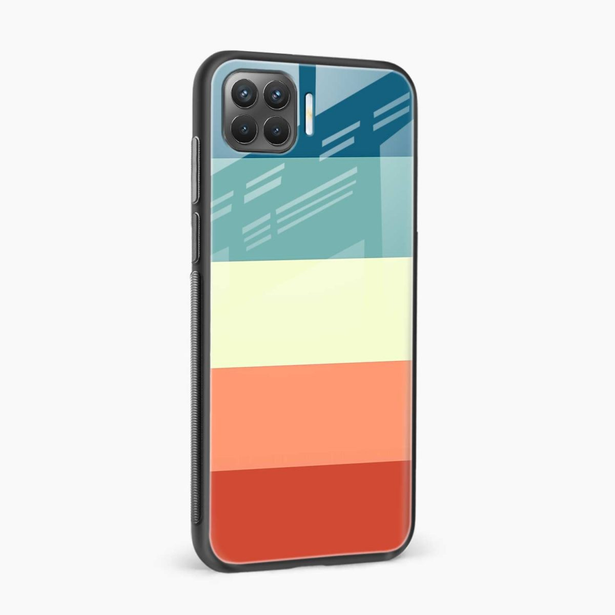 vintage retro graphic pattern side view oppo f17 pro back cove