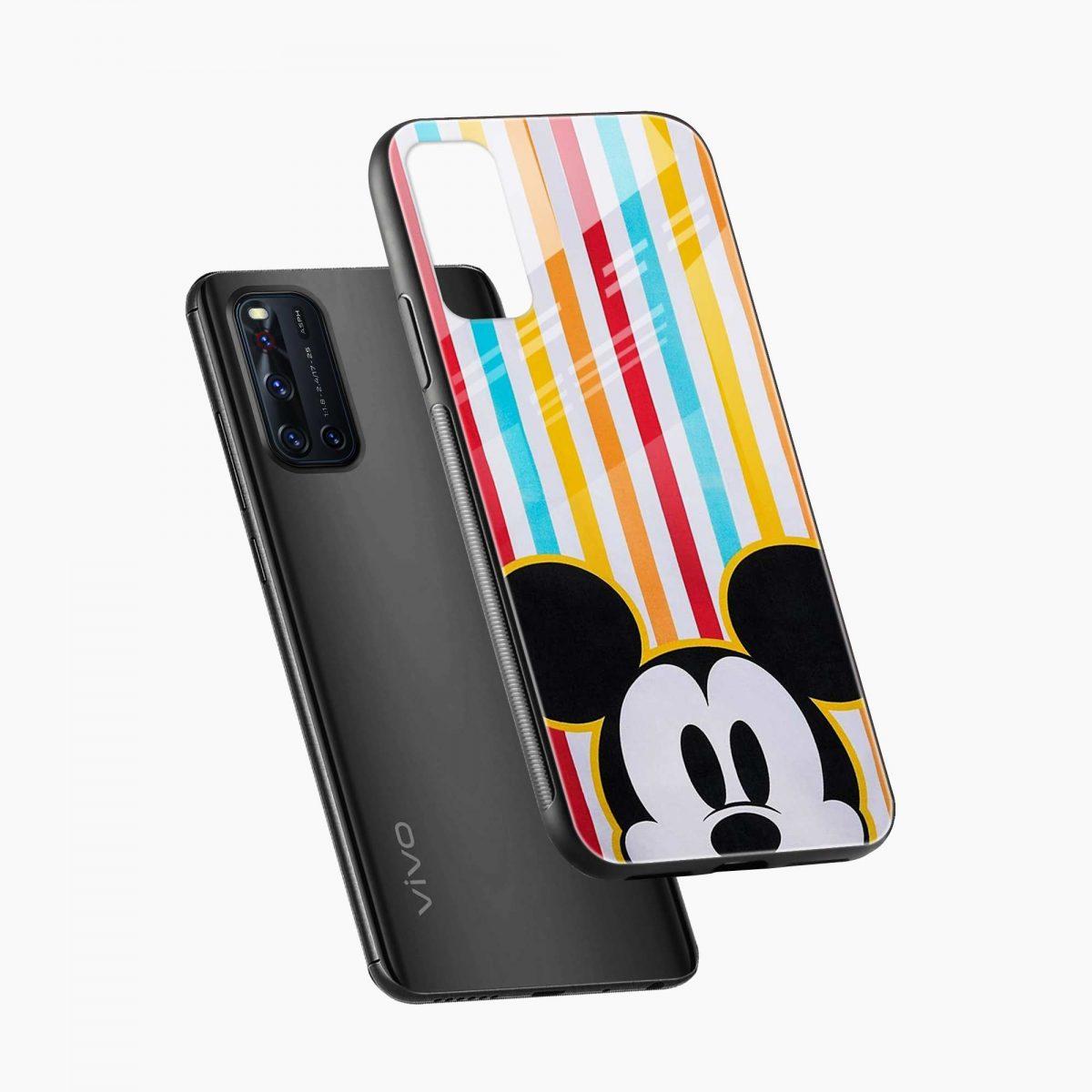 rigid spy mickey mouse diagonal view vivo v19 back cover