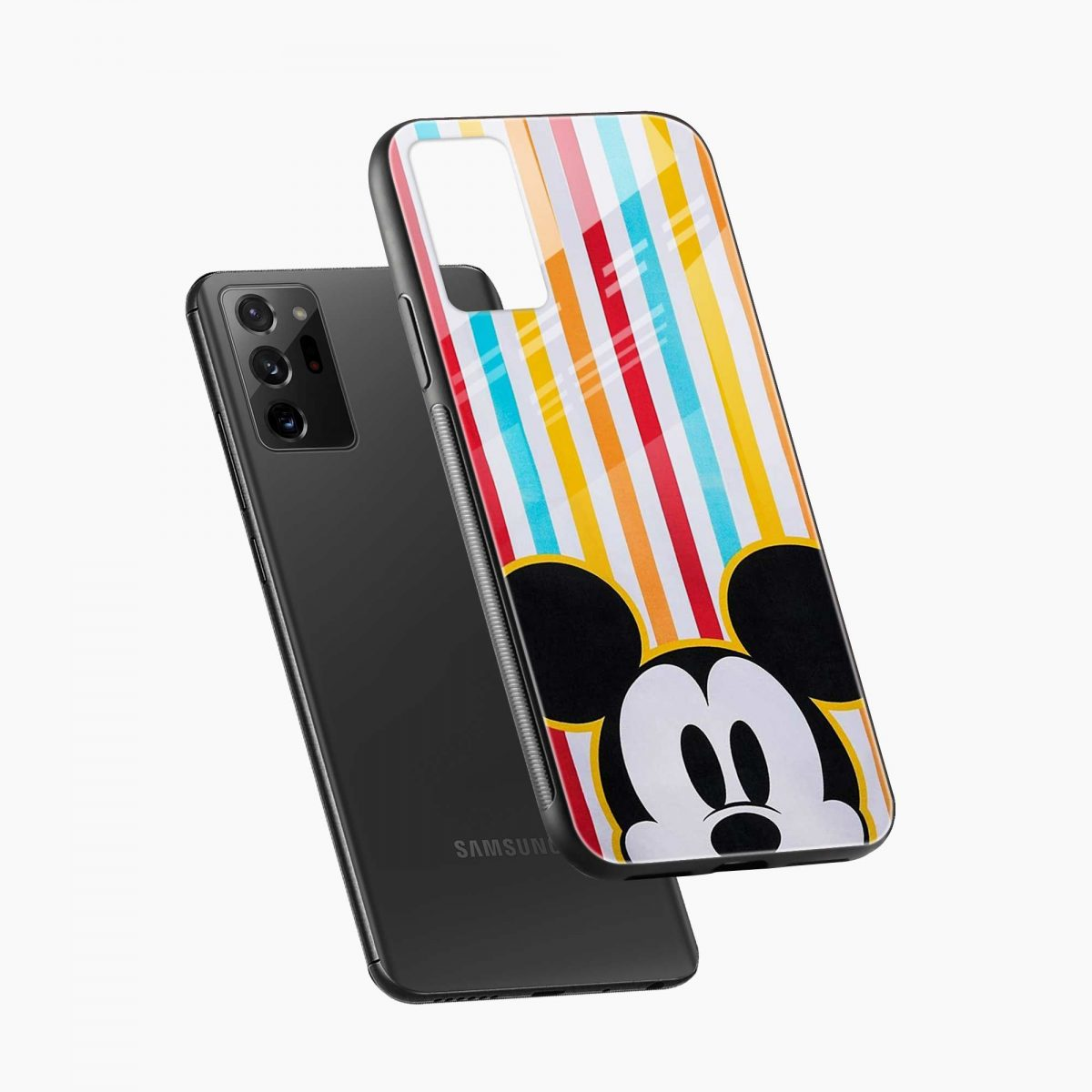 rigid spy mickey mouse diagonal view samsung galaxy note20 ultra back cover