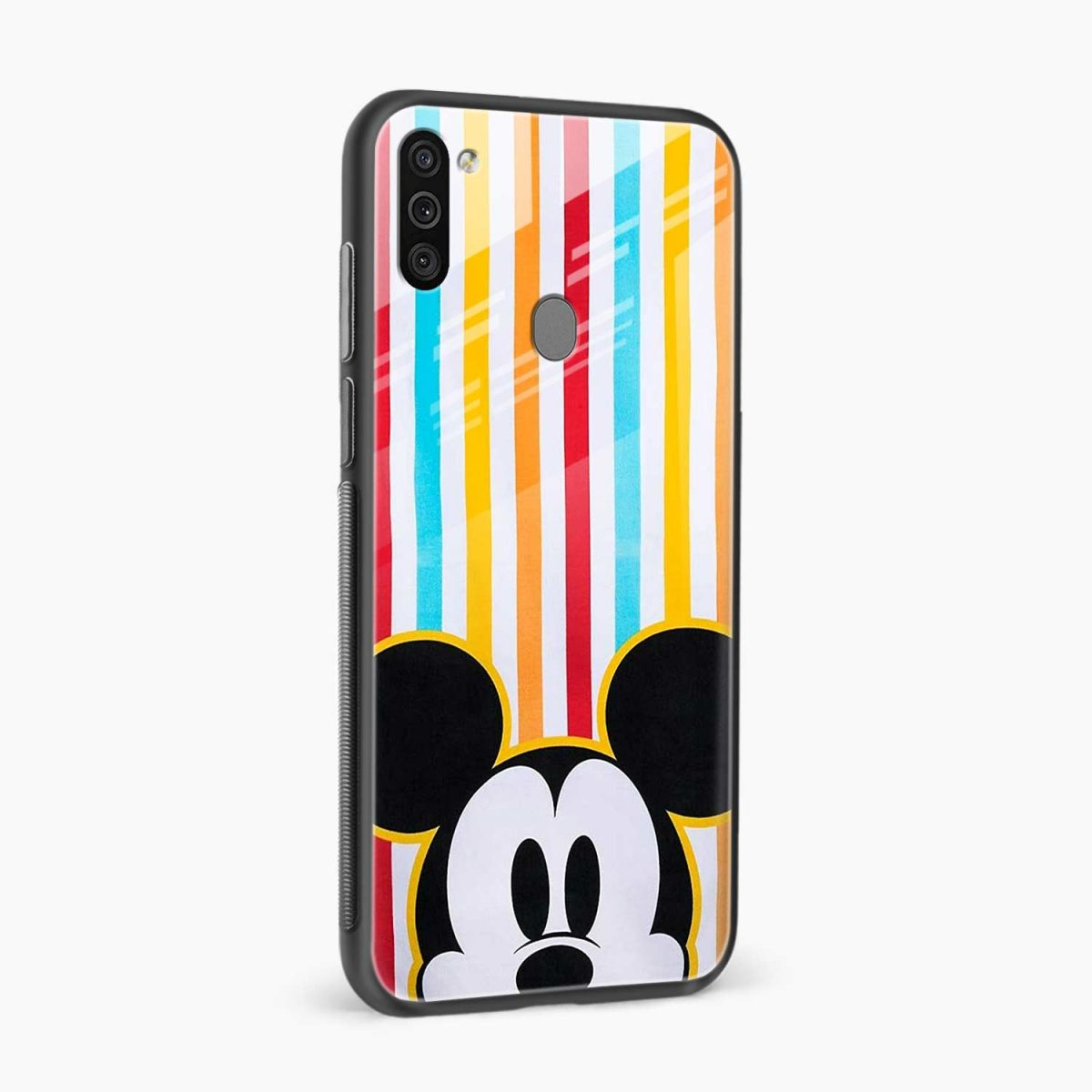 rigid spy mickey mouse side view samsung galaxy m11 back cover