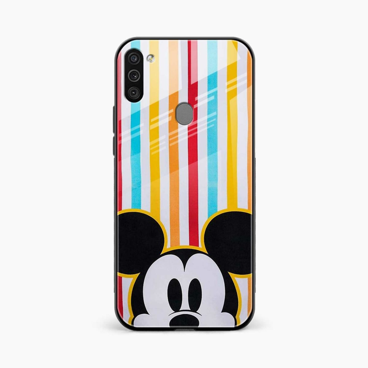 rigid spy mickey mouse front view samsung galaxy m11 back cover