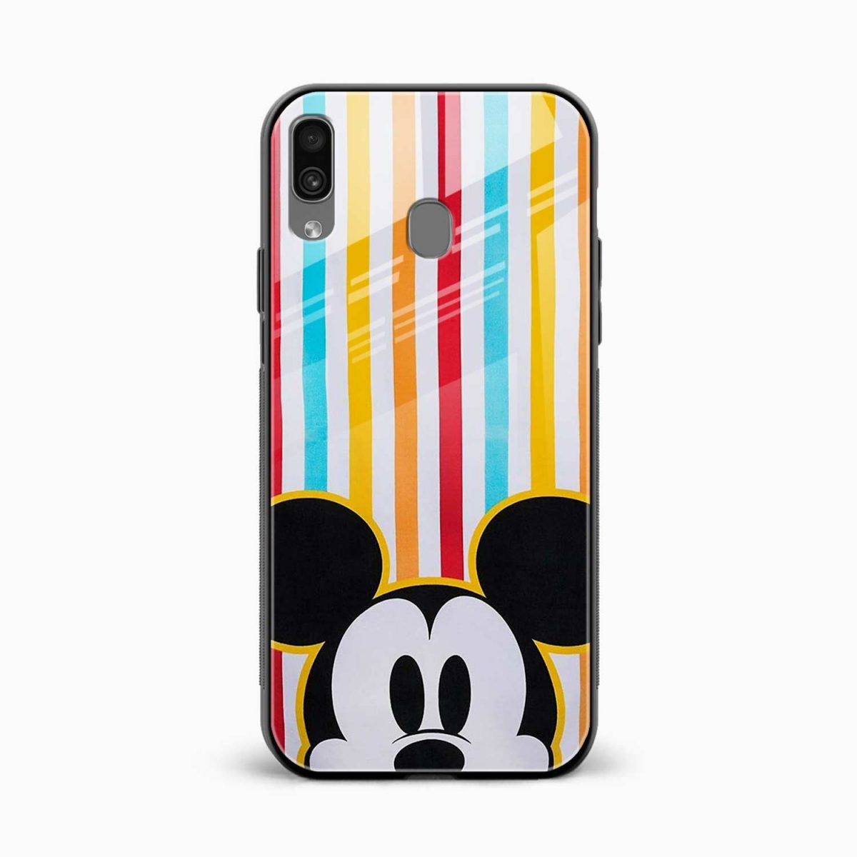 rigid spy mickey mouse front view samsung galaxy a30 back cover