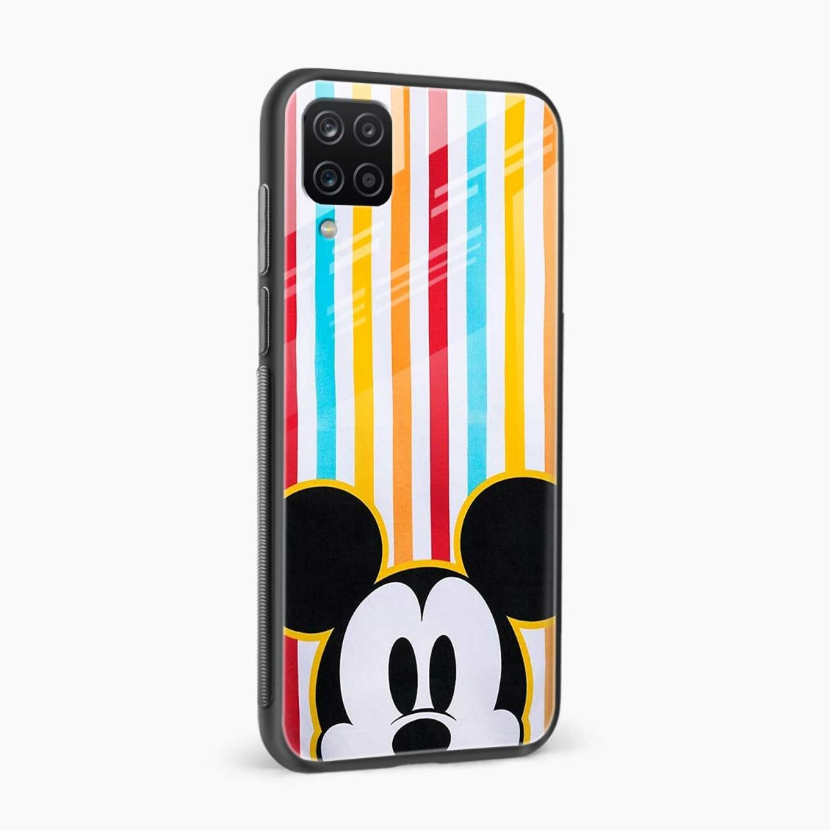 rigid spy mickey mouse side view samsung galaxy a12 back cover