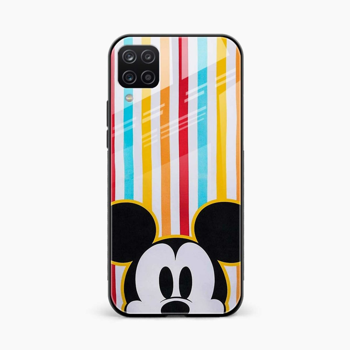 rigid spy mickey mouse front view samsung galaxy a12 back cover