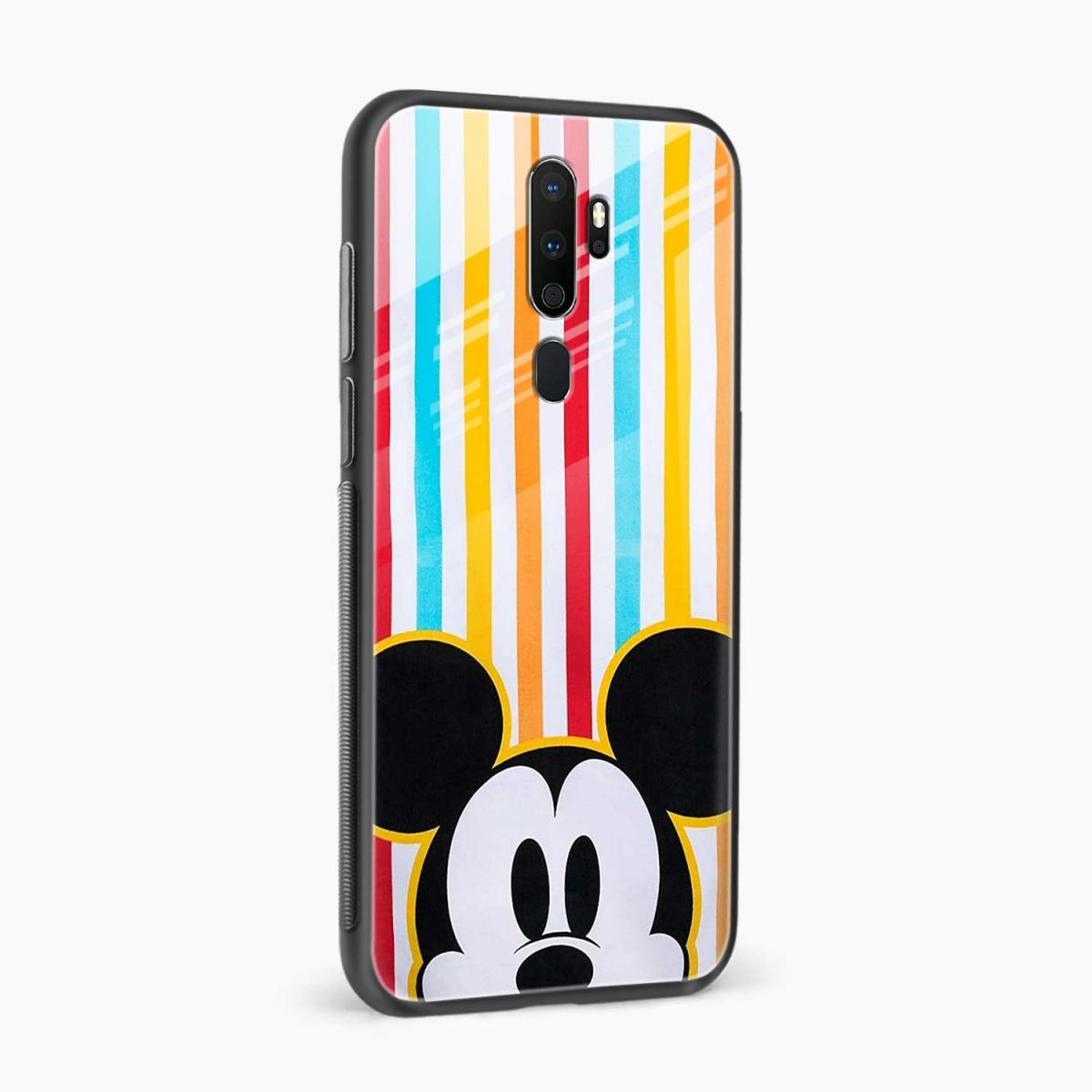 rigid spy mickey mouse side view oppo a5 back cover