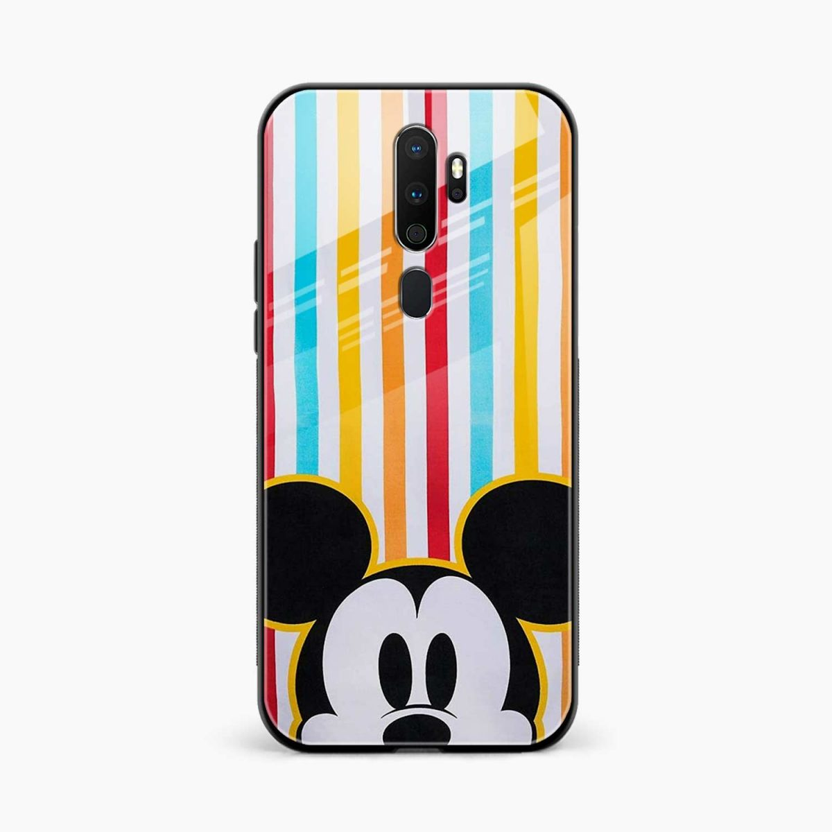 rigid spy mickey mouse front view oppo a5 back cover
