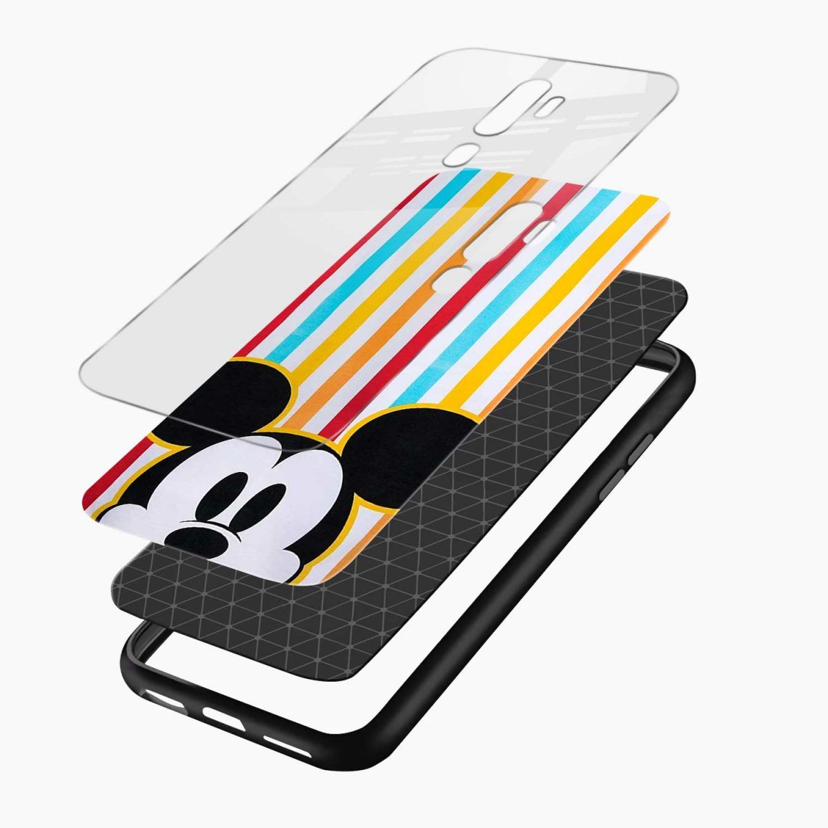 rigid spy mickey mouse layers view oppo a5 back cover