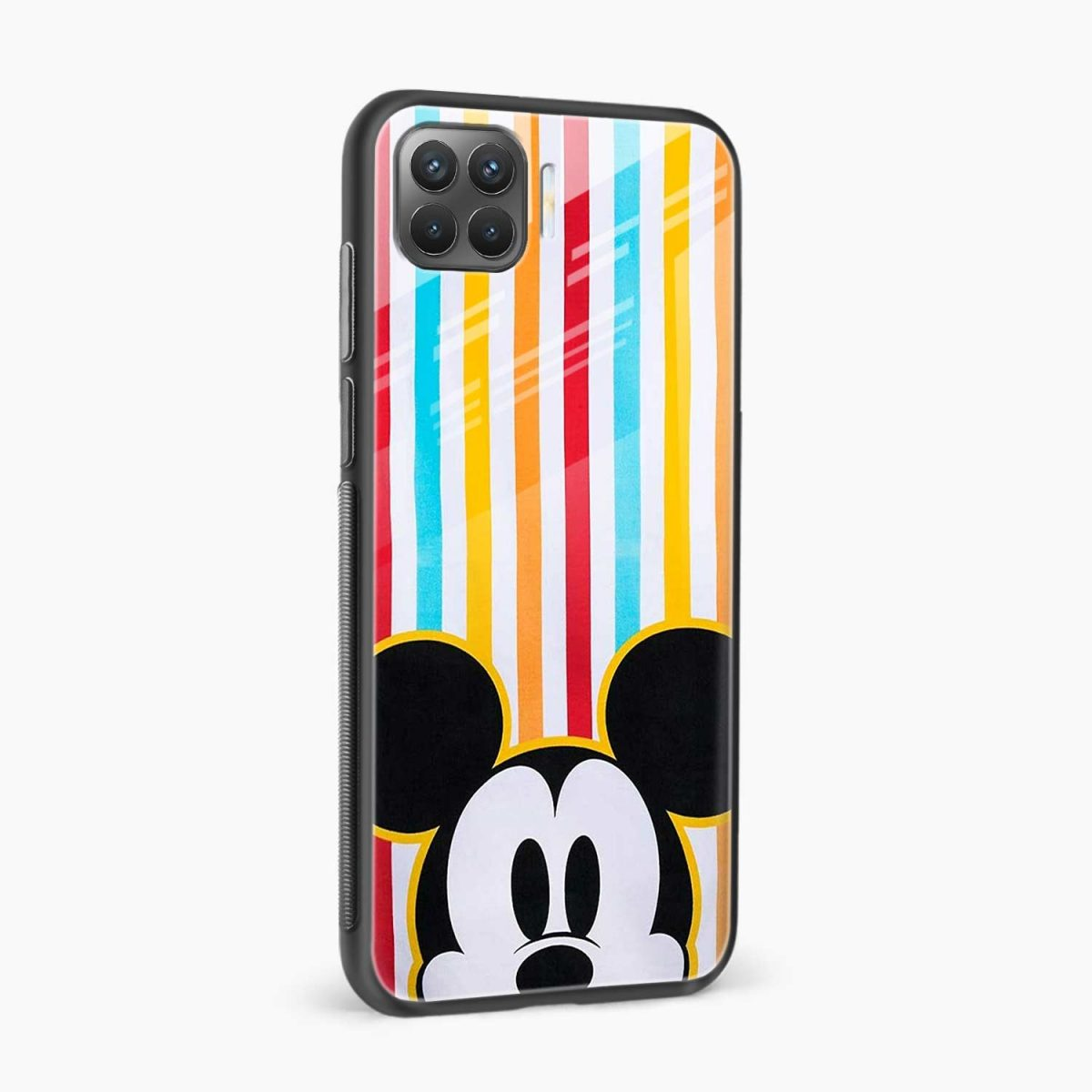 rigid spy mickey mouse side view oppo f17 pro back cove