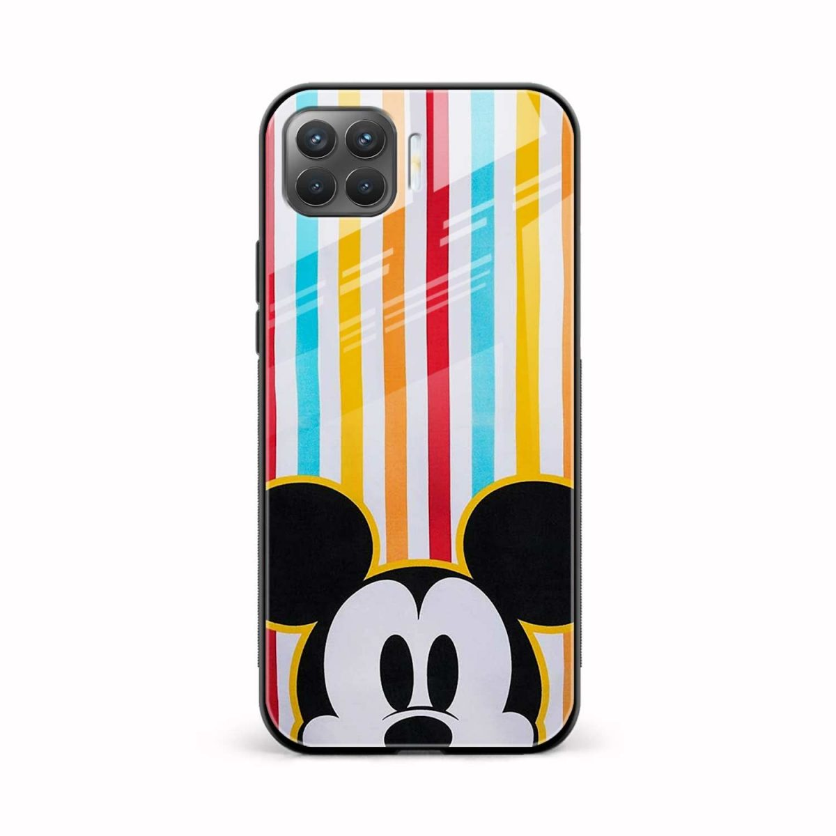 rigid spy mickey mouse front view oppo f17 pro back cover