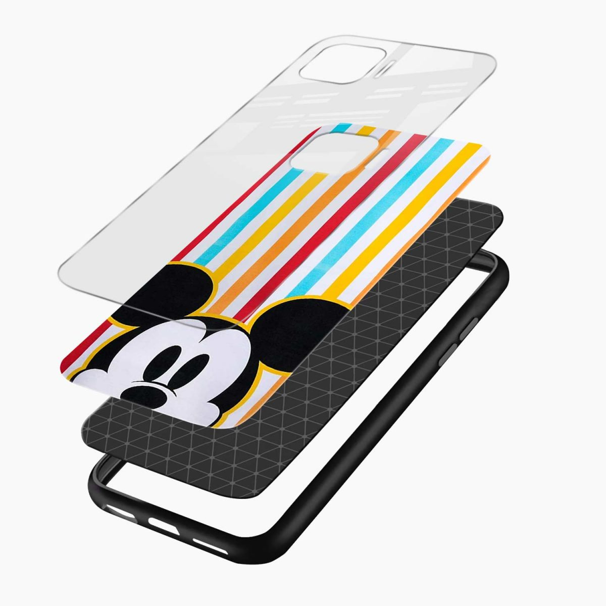 rigid spy mickey mouse layers view oppo f17 pro back cove