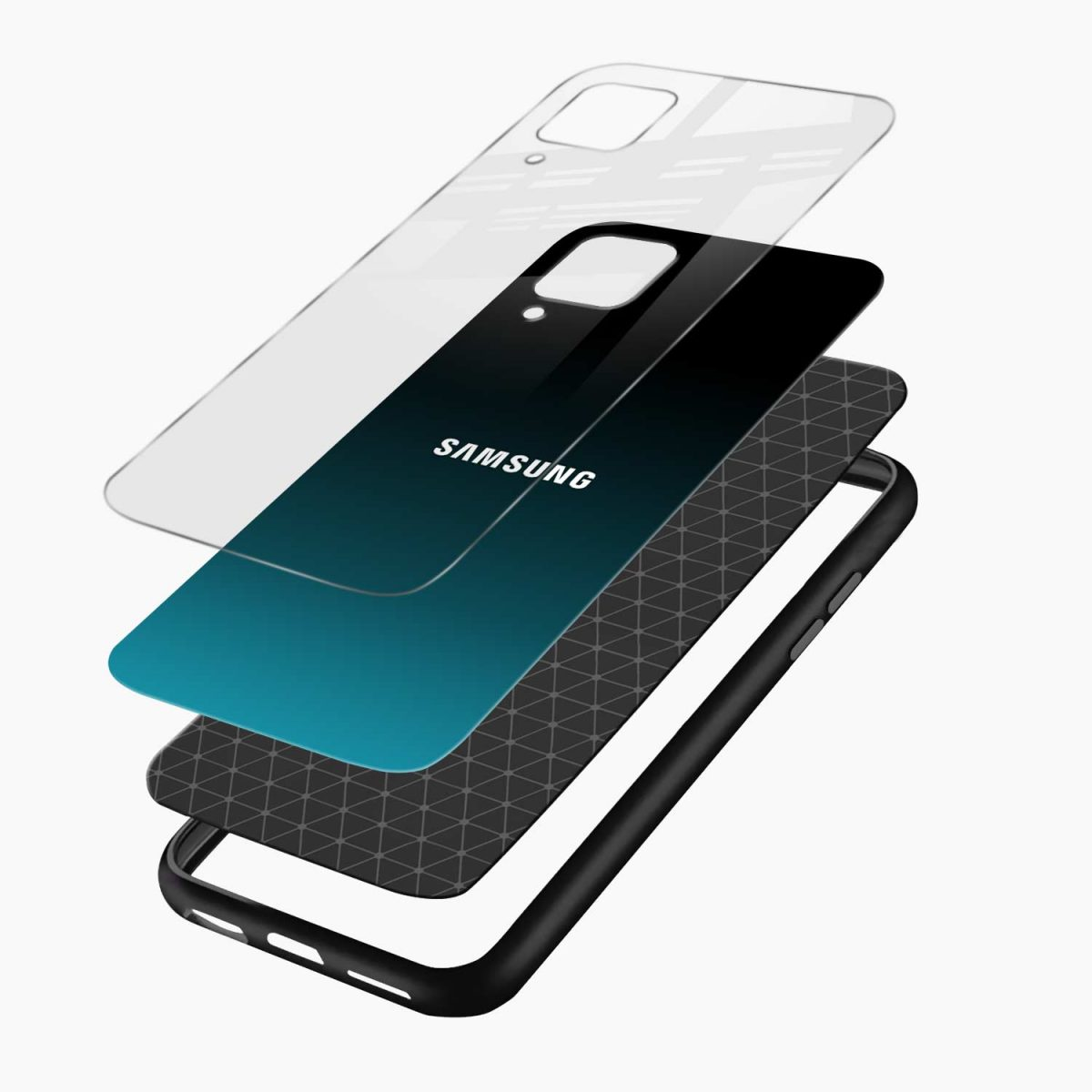 ultramarine glass layers view samsung galaxy a12 back cover