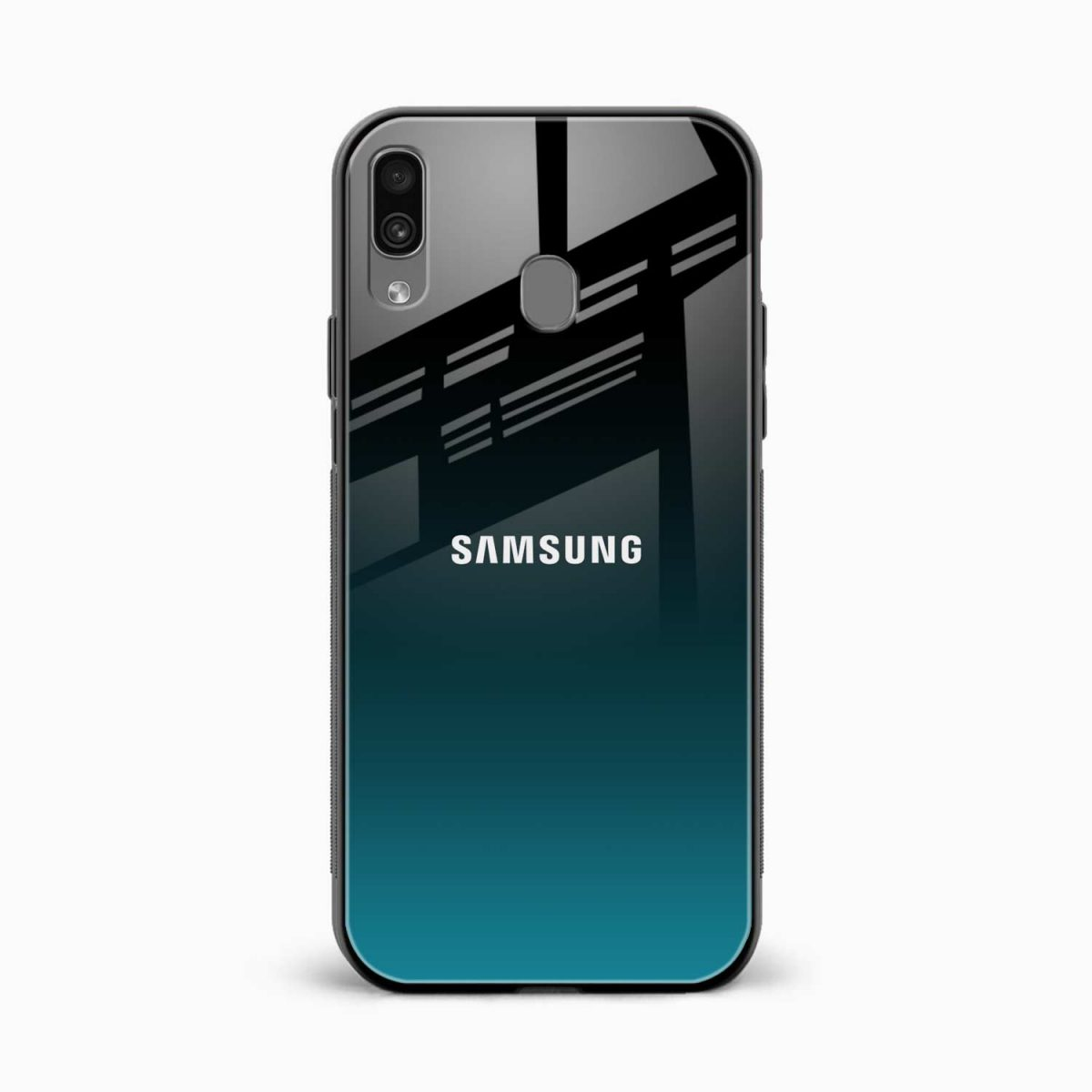 ultramarine glass front view samsung galaxy a30 back cover