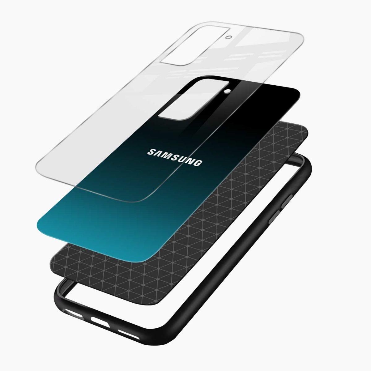 ultramarine glass layers view samsung s21 plug back cover