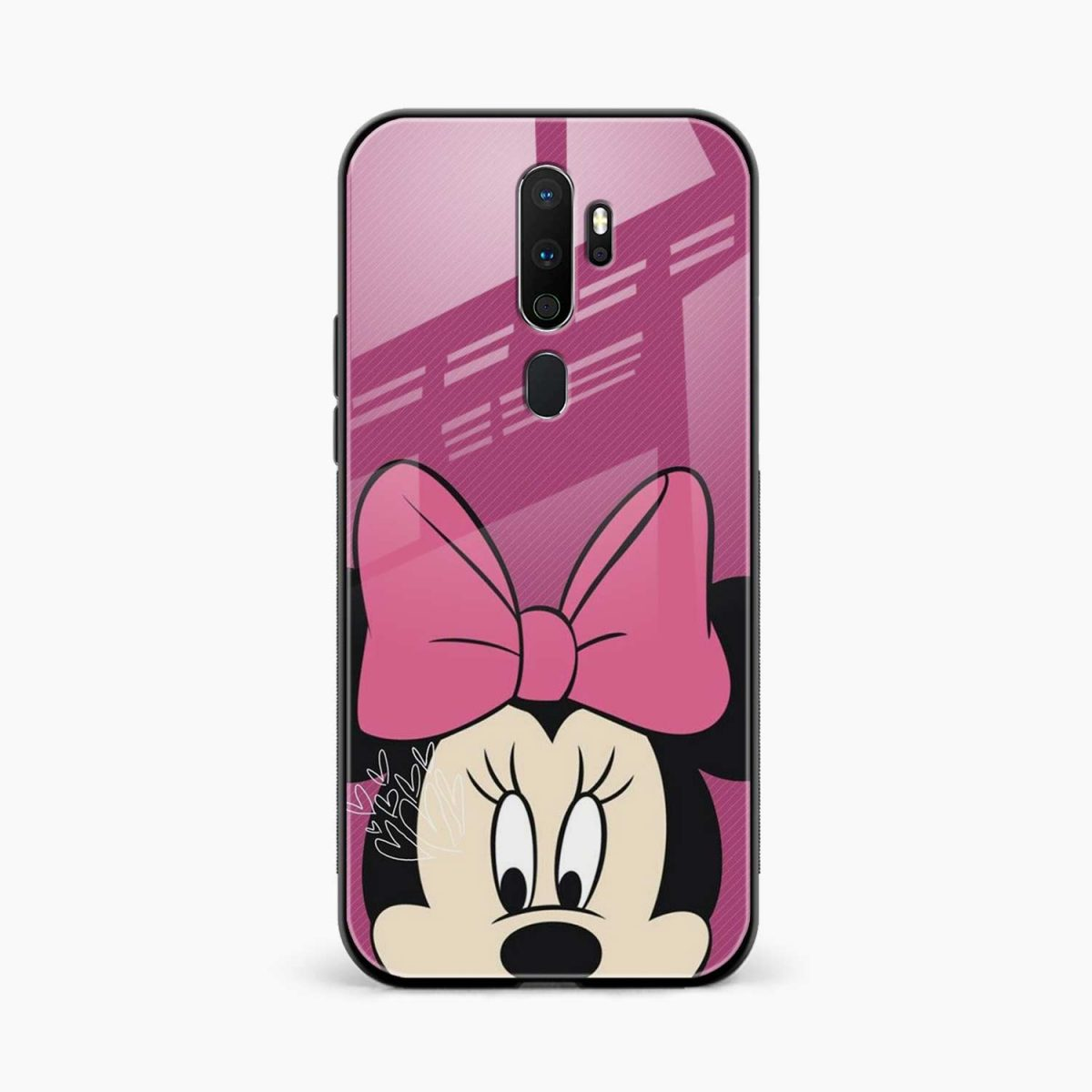 disney minnie cartoon front view oppo a5 back cover