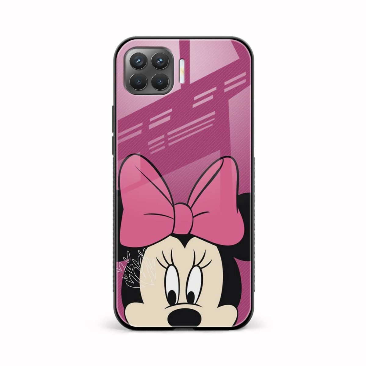 disney minnie cartoon front view oppo f17 pro back cover