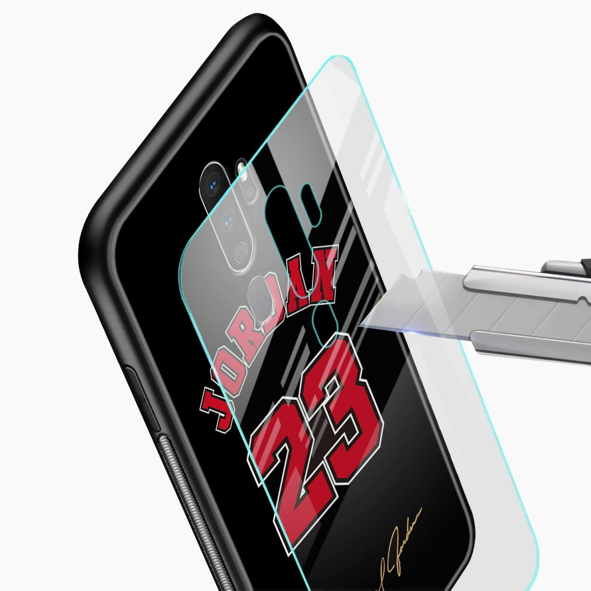 jordan glass view oppo a5 back cover