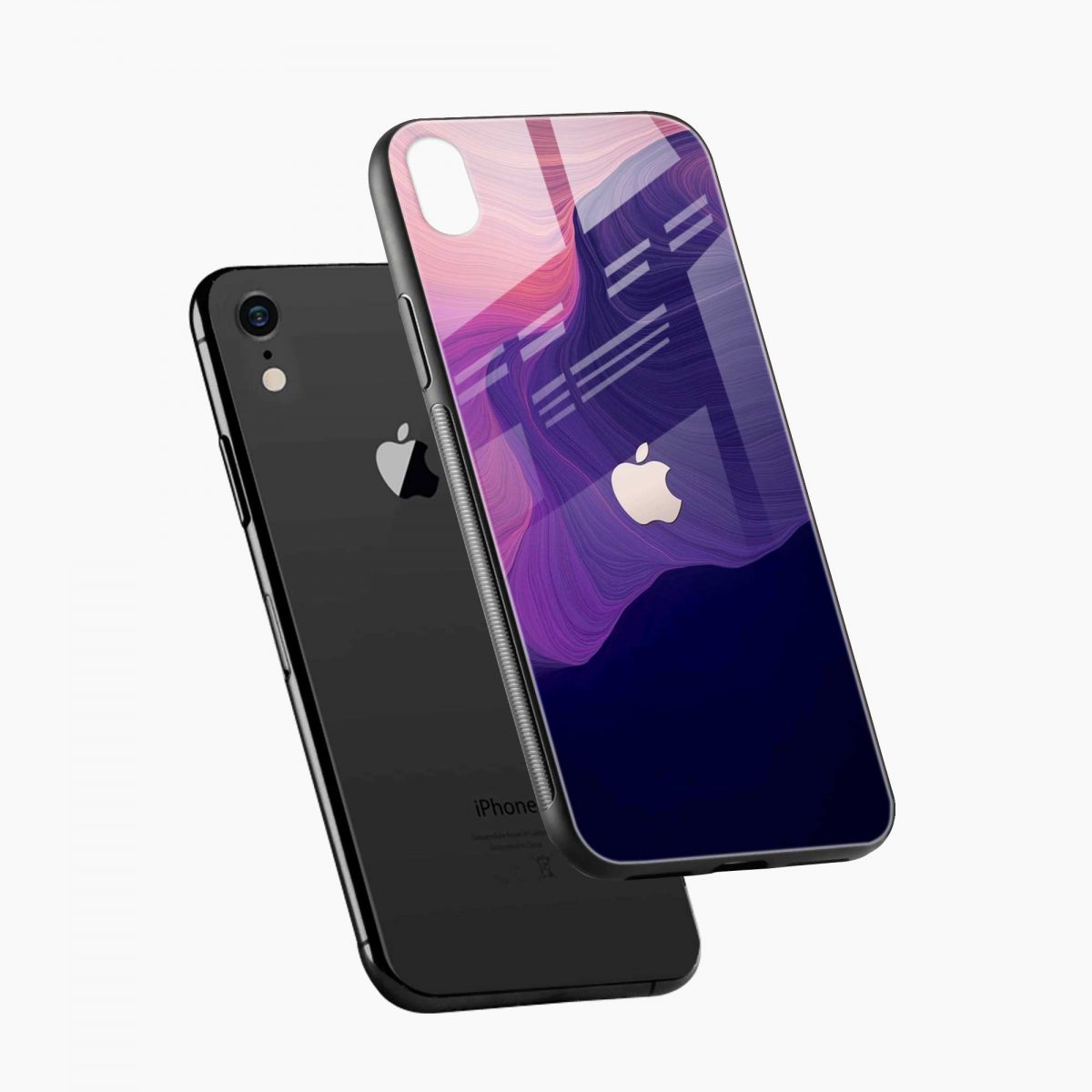 simply classic apple iphone xr back cover diagonal view