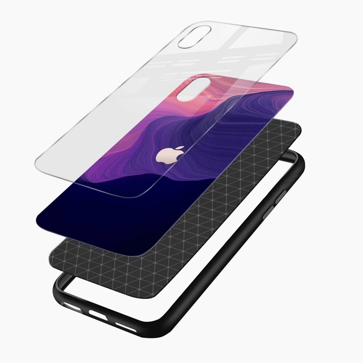simply classic apple iphone xr back cover layers view