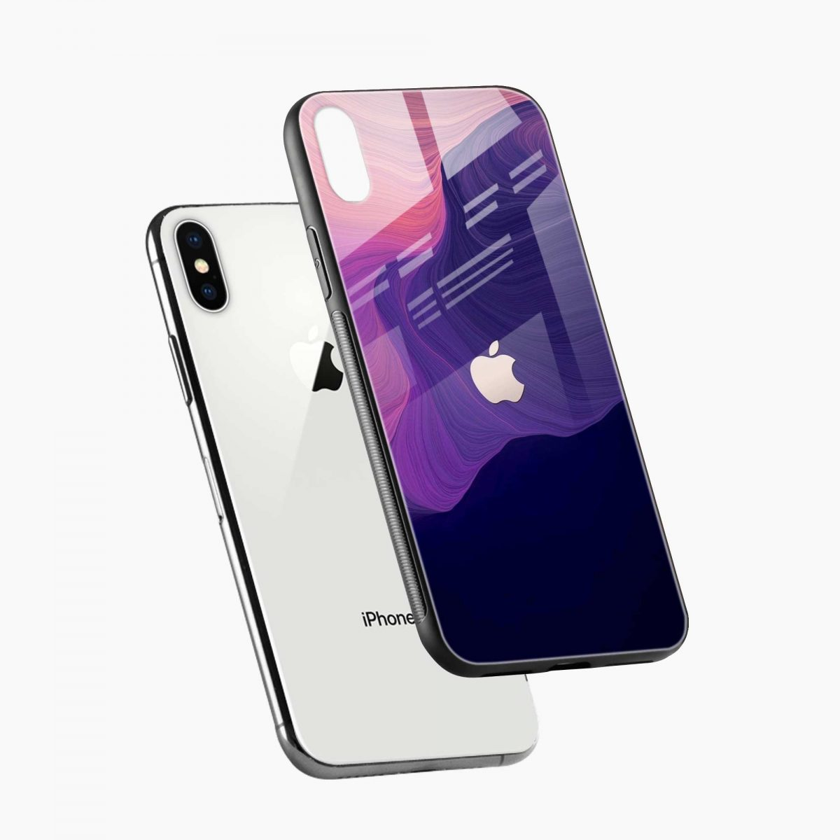 simply classic diagonal view apple iphone x xs max back cover