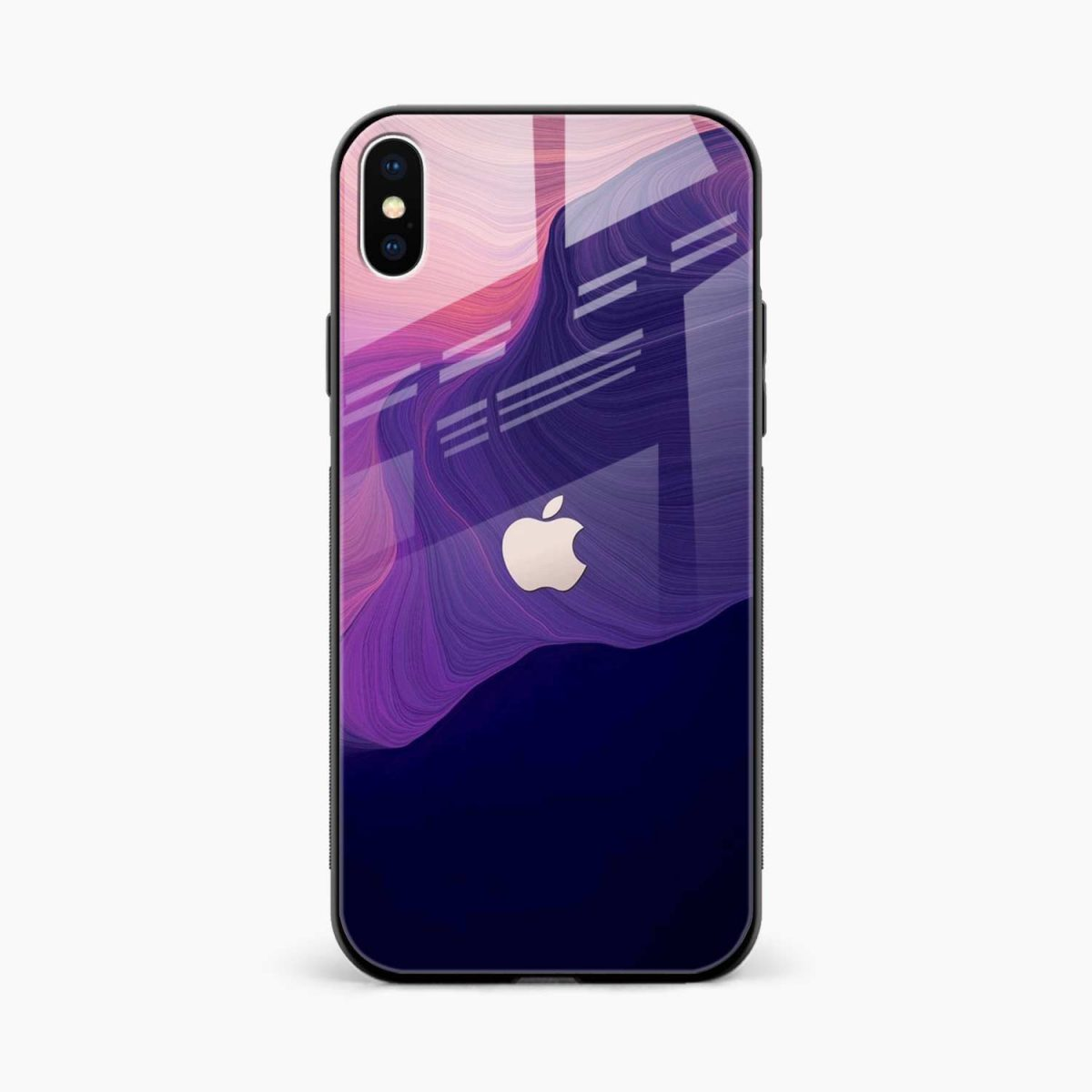 simply classic front view apple iphone x xs max back cover
